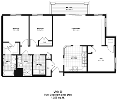 2 bed 2 bath floor plans two bedroom plus den apartment floor plan oaks of lake george