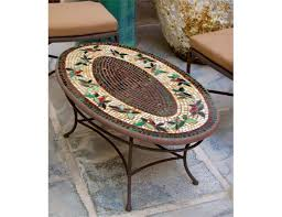 oval patio table knf designs mosaic tiled oval coffee table