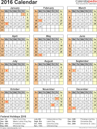 best photos of 2016 yearly calendar with holidays free printable