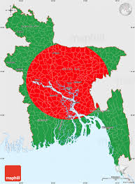 Outside Flag Flag Simple Map Of Bangladesh Single Color Outside Flag Rotated