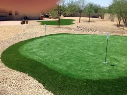 Arizona Backyard Landscaping by Fake Grass Eloy Arizona Backyard Putting Green Small Backyard Ideas