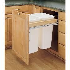 kitchen cabinet trash can slide out kitchen