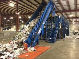 heavy duty manual sorting line practically new recycling