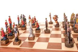 buy zulu vs british resin chess set at chessafrica co za for only