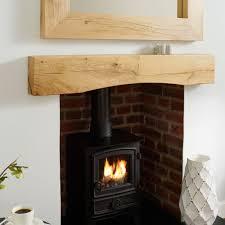 oak mantel shelf lazy arch rustic solid french beam