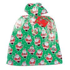gift bags christmas jumbo plastic christmas santa claus present bag christmas gift