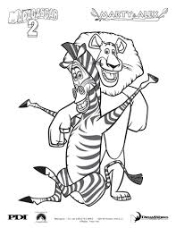 madagascar 2 marty and alex coloring pages hellokids com