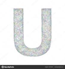 colorful sketch font design letter u u2014 stock vector davidzydd