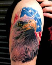 Confederate Flag With Eagle Meaning Amazing Patriotic Eagle Head With Usa Flag Tattoo On Right Shoulder