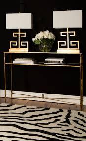 Zebra Print Table Lamp Elegant Foyer With Dramatic Elements Zebra Print Rug Gold Table
