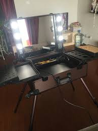 lighting for makeup artists brown professional makeup artist station cosmetic rolling