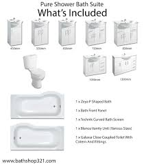 P Shaped Shower Bath Suites Pure Showerbath Suite Bathrooms At Bathshop321