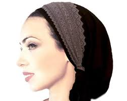 pre chemo black pink head scarf black tichel hair snood head scarves