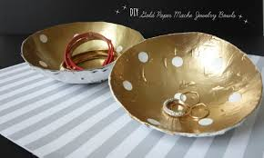 diy gold paper mache jewelry bowls the kim chronicles