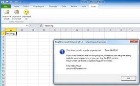 how to remove or break a forgotten excel xls password