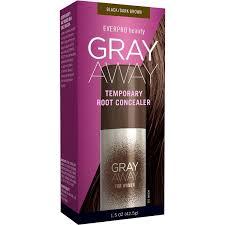 everpro beauty gray away for women temporary root concealer black