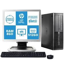 ordinateur de bureau reconditionné ordinateur de bureau hp elite 6000 celeron dual 8 go ram 512 go