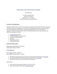 Resume Sample For Retail Sales Associate by Cover Letter Cover Letter For Retail Sales Associate Email Cover
