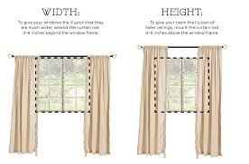 Width Of Curtains For Windows How To Hang Drapes Drapery Panels Illusions And Hang Curtains