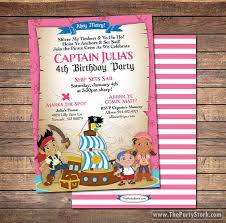 jake neverland pirates invitations printable girls pirate