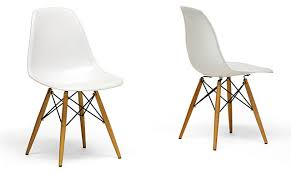 Modern Dining Chairs White Modern Dining Chair Using Wooden Accent Base Leg And Unique