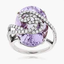 rose gold amethyst diamond ring awesome amethyst diamond rings jewelry ideas