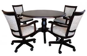 Kitchen Table Sets With Caster Chairs by Wood Dinette Sets Wooden Tables Dining Chairs Intended For
