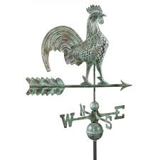 Design For Antique Weathervanes Ideas Shop Blue Verde Copper Roof Mount 25 In Rooster Weathervane At