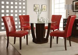 red dining room chair interior design