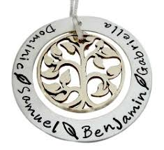 personalized family tree necklace sted family tree eternity circle necklace