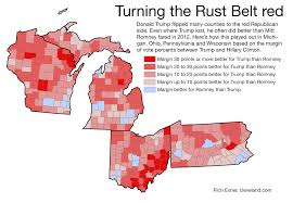 Wisconsin Election Map by Donald Trump Flipped Rust Belt States By Boosting Rural Vote
