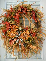 thanksgiving front door decorations fall autumn wreath front door decor thanksgiving by petalsnpicks