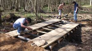 wooden bridge plans building a log bridge gopro timelapse youtube