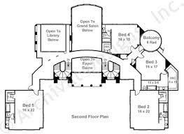2nd Floor House Plan by Champlatreaux Neoclassic House Plan Luxury House Plan