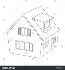 house illustration outline silhouette stock illustration 279338384