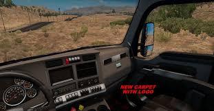 new kw trucks kenworth t680 truck interior american truck simulator mod ats mod