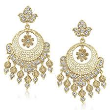 ear rings photos buy meenaz ear rings for in traditional gold plated pearl