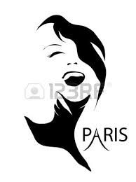 fashion in sketch style girls face silhouette vector