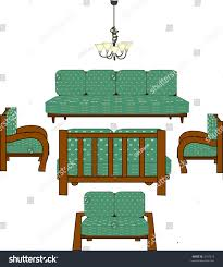 green livingroom chairs chandelier see my stock illustration