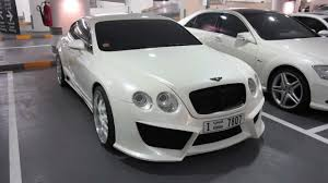 white bentley black rims bentley continental gt with custom rims and body kit youtube