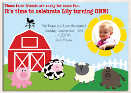 Baby 1st Birthday Invitation Card 16 Wonderful Farm Birthday Party Invitations Theruntime Com