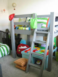 Diy Toddler Bunk Beds Free Woodworking Plans To Build A Toddler Sized Low Loft Bunk