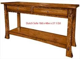 Oak Sofa Table Amish Sofa Tables Arts In Heaven Ohio