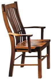 Mission Oak Dining Chairs Laurelhurst Slatback Arm Chair Contoured Solid Wood Seat Mission