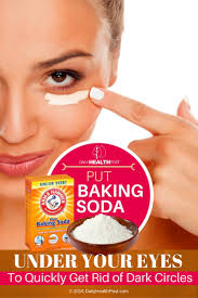 put baking soda under your eyes to quickly get rid of dark circles