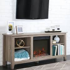 Media Center Furniture by Walker Edison Furniture Company Essentials Driftwood Fire Place