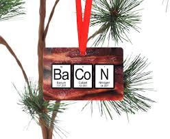 bacon periodic table ornament