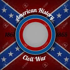 Flag With Red Circle Circle Frame For Your Lable On Confederate Flag Grunge Background