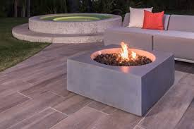 Outdoor Fire Pit Chimney Hood by Eldorado Stone Talus Artisan Square Gas Fire Pit