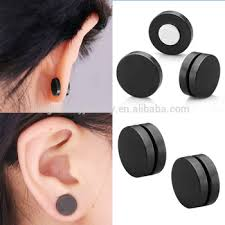 magnetic stud earrings stainless steel black piercing jewelry men magnetic stud